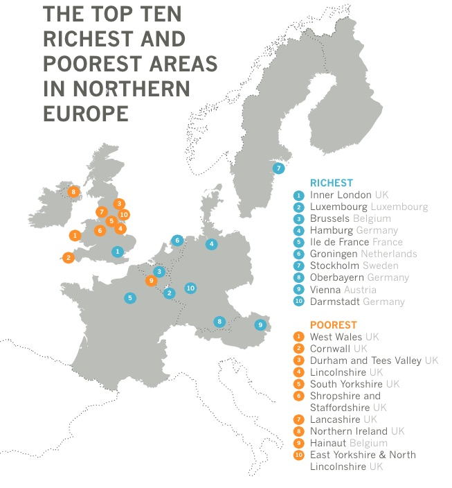 Poorest Regions in EU